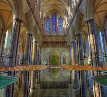 Salisbury Cathedral Interior Reflections II by Adam Gormley