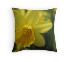 Daffy Daffodil Throw Pillow