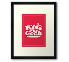 Kiss the cook Framed Print