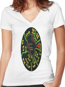 Suburbia Women's Fitted V-Neck T-Shirt