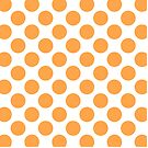White with Orange Polka Dots Throw Pillow by Natalie Kinnear