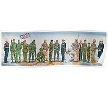 Royal Marine uniforms 1972 - 2014 Poster