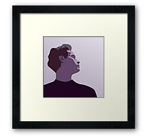 Model Man B (Purple Hue) Framed Print