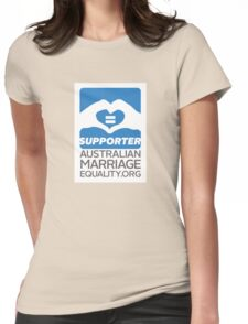 Australian Marriage Equality Supporter Womens Fitted T-Shirt