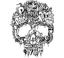 Skull funk Black Photographic Print