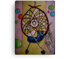"""Dreamcatcher -  but I have HORRIBLE dreams."" Canvas Print"