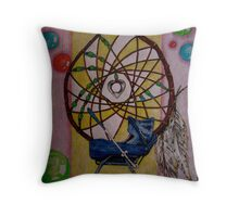 """""""Dreamcatcher -  but I have HORRIBLE dreams."""" Throw Pillow"""