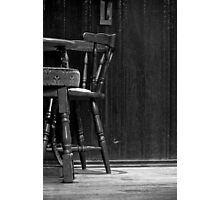 The Vacant Chair Photographic Print