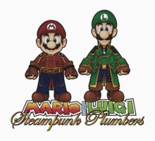 Super Mario Bros Steampunk Plumber Kids Tee