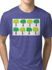 Green Trees Tri-blend T-Shirt