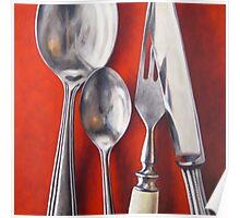Silver Cutlery VII Poster