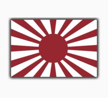 War flag, Imperial Japanese Army, The Rising Sun Flag, Japan, Japanese, WWII, on Black Kids Clothes
