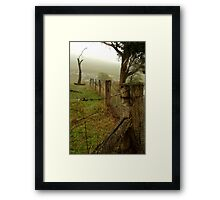 Wet Damp Cowbaw Morning, Macendon Ranges Framed Print