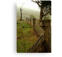 Wet Damp Cowbaw Morning, Macendon Ranges Canvas Print