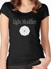 Light Modifier - Photography Women's Fitted Scoop T-Shirt