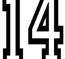 14, TEAM SPORTS, NUMBER 14, FOURTEEN, FOURTEENTH, Competition,  by TOM HILL - Designer