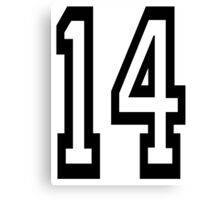 TEAM SPORTS, 14, NUMBER 14, FOURTEEN, FOURTEENTH, Competition,  Canvas Print