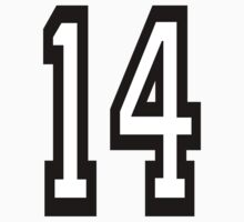 TEAM SPORTS, 14, NUMBER 14, FOURTEEN, FOURTEENTH, Competition,  Kids Clothes