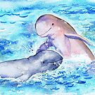 Postcards for the Reef 15: Snubfin Dolphin by MiMiDesigns