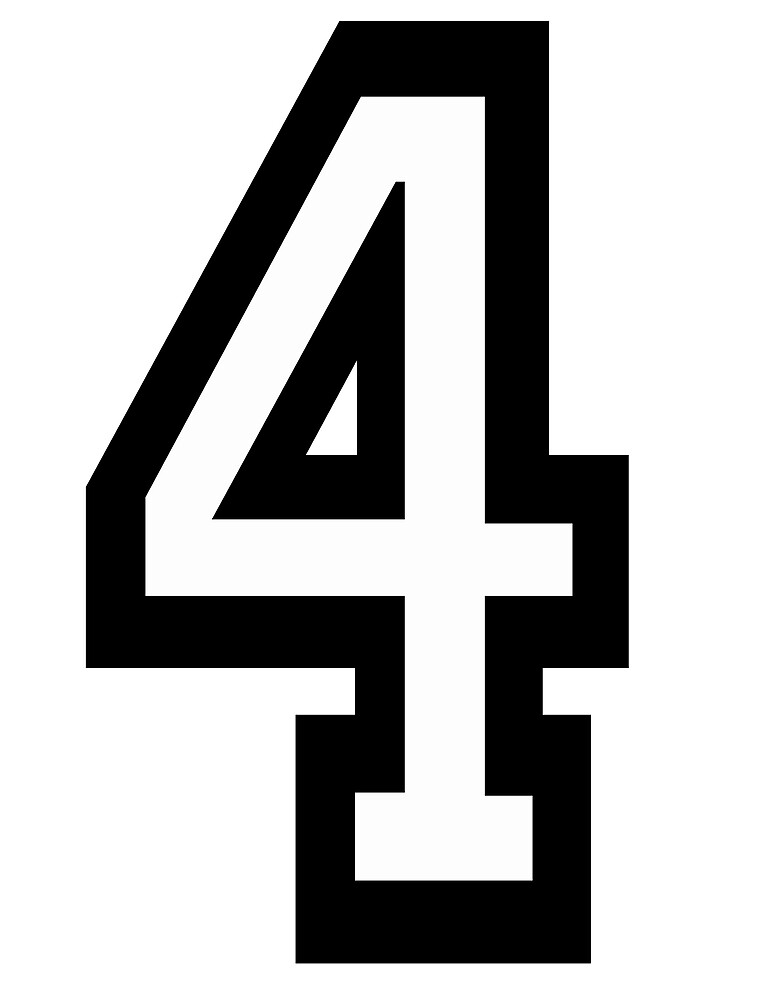 11700121 Team Sports Number 4 Four 4 Fourth Competition on Clip Art Numbers 1000