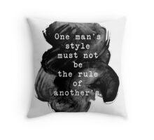 Jane Austen quote art Throw Pillow