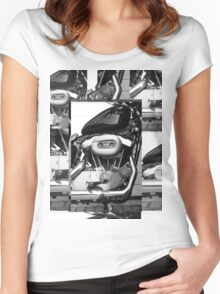 Harley Engine Mashup Women's Fitted Scoop T-Shirt