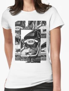 Harley Engine Mashup Womens Fitted T-Shirt