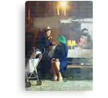 The Conversation ( Trailer Park America Series) Canvas Print