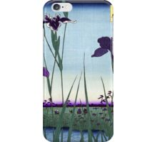 Japanese Irises in Landscape iPhone Case/Skin