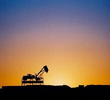 Opal Fields Coober Pedy at Sunset by Ronald Rockman