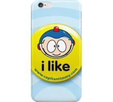 Capitan Timmy - Pin Button Badge iPhone Case/Skin