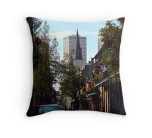 New Orleans Side Street Throw Pillow