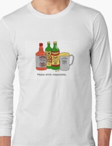 Please Drink Responsibly. Long Sleeve T-Shirt