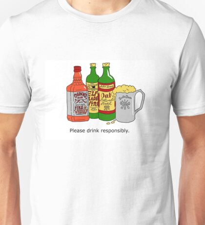 Please Drink Responsibly. Unisex T-Shirt