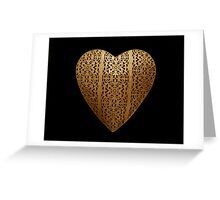 Golden Heart  Greeting Card