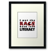 Racy Librarian Framed Print