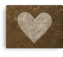 Chalk Heart  Canvas Print