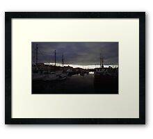 Hobart Harbour Sunrise Framed Print