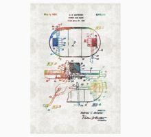 Hockey Art - Game Board - Sharon Cummings Kids Tee