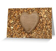 Pebble Heart Greeting Card