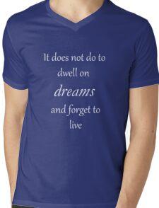 Dwell on Dreams Mens V-Neck T-Shirt