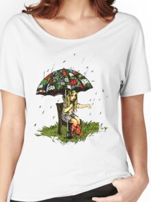 Umbrella girl (large image) Women's Relaxed Fit T-Shirt