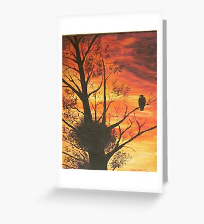 eagle by sunset Greeting Card