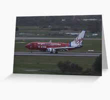 Virgin Airlines 737 Landing Greeting Card