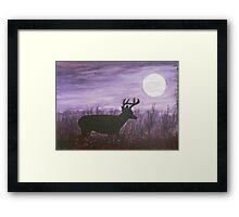Moon light walk Framed Print