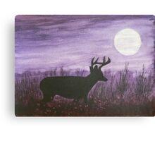 Moon light walk Canvas Print