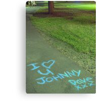 I heart U Johnny Canvas Print