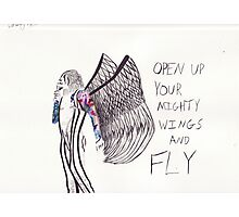 Open up your mighty wings and fly Photographic Print