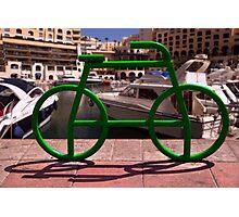 Green Tube Bike in Malta Photographic Print
