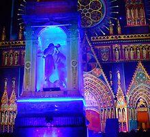 Fountain St John baptising Jesus by KERES Jasminka